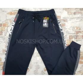 """Спортивные штаны """"BLACK CYCLONE"""" W26# мужские трикотажные на манжете, р. М-(46), L-(48), XL(50), 2XL-(52), 3XL-(54) -(ростовка 5 шт) -серый, синие"""