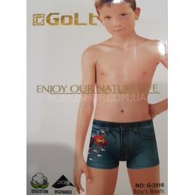 """Боксёры подростковые""""Golt"""" 3516 cotton, р. S, M, L, XL (4-6, 6-8, 8-10, 10-12 лет)- ростовка 8шт."""