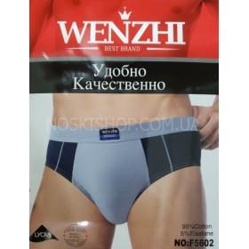 "Плавки муж. ""WENZHI"" F1111-1 (разнобой) Cotton-стрейч, р. XL -(1 уп. 3 шт)"