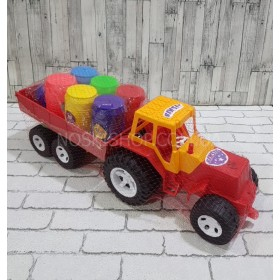 Трактор прицеп с бочонками, Bamsic