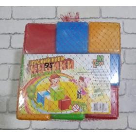 Кубики строительные пластиковые, MToys 27 шт., цветные