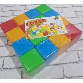 Кубики строительные пластиковые, MToys 16 шт., цветные
