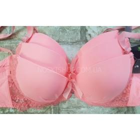 """Бюстгальтер 8266-""""В"""" (светло-розовый) с поролоном, уп. 3 шт, в уп. микс объёмов"""