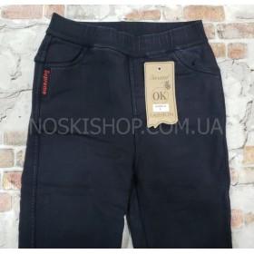 """Джеггинсы """"Золото"""" 959-5 джинсы-стрейч на меху,   р. XL-(46-48) -черные"""