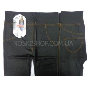 """Бриджи (капри) 3/4 """"Jujube"""" 907, бесшовные, р. XL-XXXXL (44-48), имитация под джинсы, чёрные"""