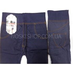 """Бриджи (капри) 3/4 """"Jujube"""" 907, бесшовные, р. XL-XXXXL (44-48), имитация под джинсы, синие"""