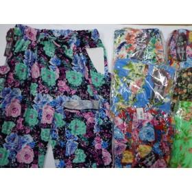 """Лосины """"FUXIAOPAN"""" 807 бамбук, цветные с карманами по бокам, р. 5XL-(44-48), 6XL-(46-50) расцветки в широком ассортименте"""