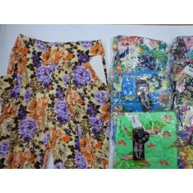 """Лосины """"FUXIAOPAN"""" 806 бамбук, цветные с карманами по бокам, р. 5XL-(44-48), 6XL-(46-50), 7XL-(48-52), расцветки в широком ассортименте"""