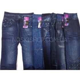"""Лосины-Джеггинсы """"Ласточка"""" А-421 бесшовные, под джинсы, р. 46-50, модели в широком ассортименте"""