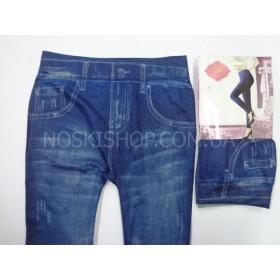 """Лосины-Джеггинсы """"БФЛ"""" СК001-2 бесшовные,имитация под джинсы, р. 44-48, синие"""