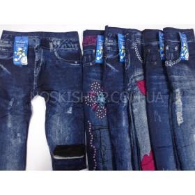 """Лосины-Джеггинсы """"Малыш"""" С-1069 детские бесшовные на махре, имитация под джинсы р. L-(60 см), XL-(70 см), XXL-(80 см) -(см -длинна изделия) -уп. 12 шт"""