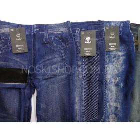 """Лосины- Джеггинсы  """"JUJUBE"""" 969-Y махровые, имитация под джинсы, бесшовные р. L/4XL-(48-52), цвета в ассортименте"""