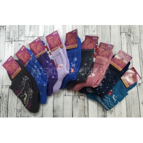 """Носки Червоноград """"Камис"""" махровые  жен. (высокие) р. 23-25 -ассорти -(две расцветки в упаковке)"""