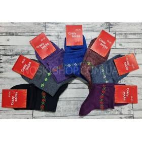 """Носки Житомир """"Премиум-Crazy socks"""" стрейч жен. р. 23-25 -ассорти -(однотонные+под резинкой веночек -стрейч)"""
