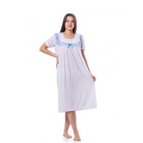 """Ночная рубашка женская """"Лейла"""" 903 р. XL-(52-54) хлопковая с коротким рукавом -(уп. 1 шт -Без выбора расцветки!!!)"""