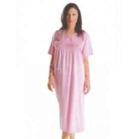 """Ночная рубашка женская """"Сантина"""" 120 р. 2XL-(56-58) хлопковая с коротким рукавом +микс кружева -(уп. 1 шт -Без выбора цвета!!!)"""