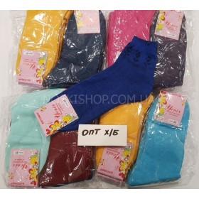 """Носки ОПТ-500-Ж """"Х/Б женские Успех-500-Ж"""" р. 25 хлопок, гладь, мешок 500 пар (50 уп. по 10 пар) в мешке микс цветов"""