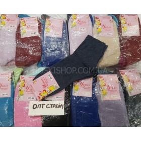 """Носки Крупный ОПТ- 480 """"Успех"""" стрейч женские (однотонные), р. 23-25 стрейч, мешок 480 пар (40 уп. по 12 пар) в мешке микс цветов"""