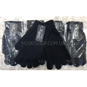 """Перчатки женские """"Корона"""" 7070 с начёсом -(чёрные) -уп.12 шт."""