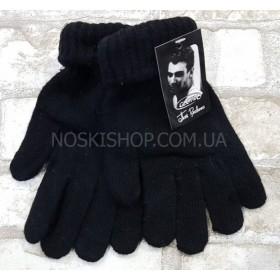 """Перчатки мужские """"Пані рукавичка Gloves"""" D-26 на байке, уп.12 шт, чёрные"""