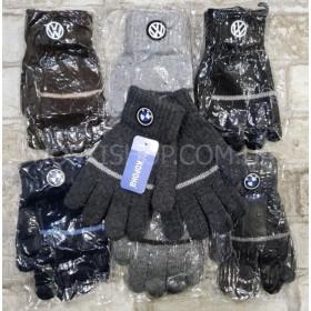 """Перчатки детские """"Корона"""" 5856 с начесом, р. 5-8 лет- уп. 12 шт, ассорти (мальчик)"""