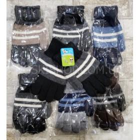 """Перчатки детские """"Children Gloves"""" 3218 с начесом, р. 8-12 лет- уп. 12 шт, ассорти (мальчик)"""