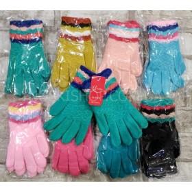 """Перчатки детские """"Gloves"""" D-5 (с начесом), р. 6-10 лет, уп. 12 шт, ассорти (девочка)"""