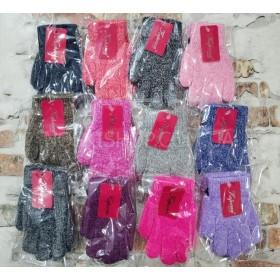 """Перчатки детские """"Корона"""" 5002 (девочка) с начесом, р. S-(3-5 лет) -(меланжевые) -уп. 12 шт"""