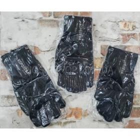 """Перчатки мужские """"Королева"""" 525 на байке -(черные) -уп. 12 шт."""