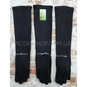 """Перчатки женские """"BOXING"""" А-7 -(длинные) трикотажные на тонком меху (в уп. 10 шт. -одной модели, микс размеров) -черные -модели в широком ассортименте"""
