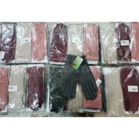 """Перчатки женские """"BOXING"""" А-17 трикотажные на тонком меху, р. S, M, L, XL, XXL -(ассорти) (в уп. 12 шт. -одной модели, микс размеров) -модели в широком ассортименте"""