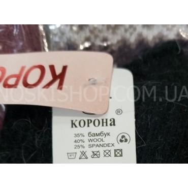 """Перчатки женские """"Корона"""" 7567 """"ангора""""-бамбук-шерсть -ассорти -(однотонные+на манжете вышивка) -уп. 12 шт"""