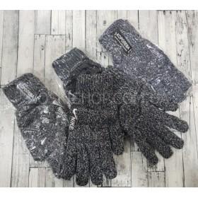 """Перчатки мужские """"Королева"""" 605 двойные,  уп. 12 шт. ассорти -(меланж)"""