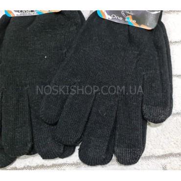 """Перчатки женские """"Touch Gloves"""" 6243 с сенсорным пальцем -(чёрные) -уп. 12 шт"""