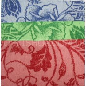 Полотенце 126-9 махровое лицевое, размер 90*50 уп. 10 шт (цветы, три цвета)