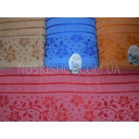 Полотенце 636-72 банное махровое, размер 140*70 уп. 8 шт (веточки с цветами)