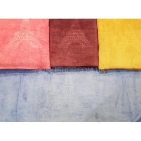 Полотенце 2350-11 сауна микрофиба-велюр, размер 180*100 (уп. 1 шт), цвета широком в ассортименте (башня)