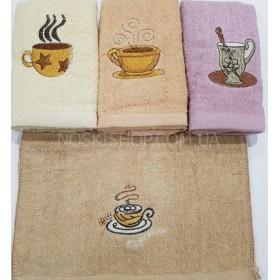 Полотенце 11-8 кухонное, размер 70*35 уп. 12 шт (чашка, кофе)