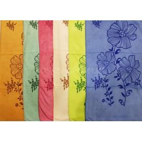 Полотенце 69-122 микрофибра-велюр, лицевое, размер 90*45 уп. 6 шт, махра (цветы)
