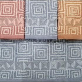 Полотенце Y10-7 банное, размер 140*70 уп. 8 шт (квадратный узор)
