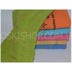 Полотенце 999-183 лицевое махровое, размер 90*45 уп. 6 шт (бамбук, яркие)