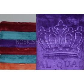 Полотенце 17-222 сауна микрофибра-велюр, размер 180*90 (уп. 1 шт), цвета широком в ассортименте (выдавленная корона)