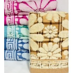 Полотенце 124-4 льняное банное, размер 140*70 уп. 6 шт (ромашки)