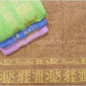 "Полотенце 18-9 лицевое, размер 90*45 уп. 8 шт (""Bamboo""-бамбук)"