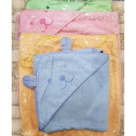 Полотенце с капюшоном (с уголком+ушки) 23-4 махровое р. 80*80 (уп. 1 шт.) - цвета в широком ассортименте