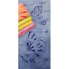 Полотенце А-20-2 кухонное, велюр-микрофибра, размер 70*35 уп. 12 шт (бабочки, цветочки)