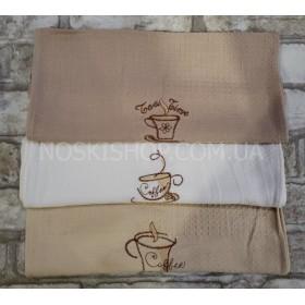 """Полотенце (салфетка) """"Вафелька-Китай"""" 48-2, размер 50*35, уп. 12 шт- ассорти- (кофейные чашки)"""