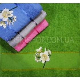 Полотенце 238-113 лицевое, размер 90*45 уп. 8 шт (цветок на ножке)