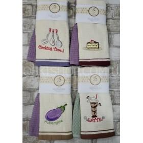 Салфетка (полотенце) Турция 5130 вафелька р. 40*60- (в уп. 2 шт)- микс в широком ассортименте