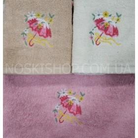 Полотенце 4170-300 кухонное, размер 70*35 уп. 10 шт (зонтик с цветами)